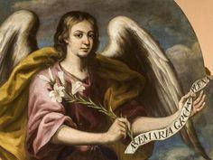 arcángel gabriel mensajero de dios San Gabriel, Veronica, Mona Lisa, Artwork, Dad In Heaven, Work Of Art, Auguste Rodin Artwork, Artworks, Illustrators