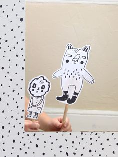 Puppet theater DIY Diy For Kids, Crafts For Kids, Puppets, Objects, Snoopy, Play, Learning, Toys, How To Make
