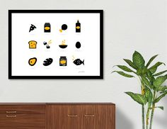 «Vintage SUSHI Black edition / on white Black Edition, White Art, All Print, Metal Art, Fine Art Paper, Authenticity, Certificate, Exotic, Art Gallery