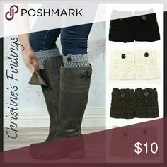 Top Half Boot Socks with Wooden Buttons 100% Cotton. Give your boots an extra flair without the entire sock. Colors available are White, Gray, Khaki, Brown, Chocolate, and Black. Let me know what colors you want. Christine's Findings  Other