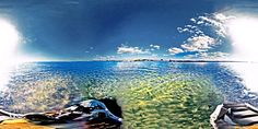https://flic.kr/p/SvQHU7 | Blue Green All, Gee! Home View From Jet Ski On Tampa Bay - IMRAN™ | This is a handheld shot with my Nikon KeyMission 360 mounted on a long selfie stick approximately held vertical the best I could sitting on the jet ski bobbing on the waves of Tampa Bay. The horizon will show some aberration, and the intense bright sun on one side causes the dual camera of the Nikon to barely manage to blend the two half images into one spherical panorama without too much banding…