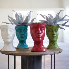 Head Ceramic Statue Planter