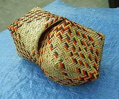 The finished basket from several angles. For more information on Cherokee Basket Weaving or Cherokee Arts visit Cherokee Artists Asso. Native American Cherokee, Basket Weaving, Nativity, Straw Bag, Quilts, Weave, Baskets, Hampers, Christmas Nativity
