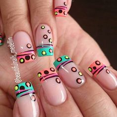100 Purity Polka Dot Nail Designs For Trendy Girls NALOADED is part of Prom nails Videos Art - Purity Polka Dot Nail Designs, You always suppose that solely subtle styles will rock your nails I Dot Nail Designs, Nails Design, Polka Dot Nails, Polka Dots, Funky Nails, Trendy Nail Art, French Tip Nails, Super Nails, Fabulous Nails