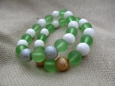 White faceted shell pale green sea glass and by littlecrowshop, $17.00