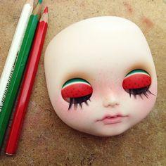 #blythecustom #juliacabraldolls #watermelon by Julia Cabral Dolls