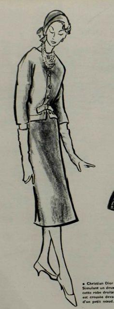 1957 - Christian Dior suit