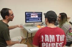 Putting together volleyball footage for the volleyball commentator skit. #aehiqld #bananaflavouredmilk #volleyball