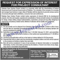 #expocentrejobs2021 #jobsinlahore #pakistanexpocentrejobs2021 Pakistan Expo Centre Jobs 2021 has been announced in Lahore. In these Project Consultant Jobs in Punjab Today, interested male/female applicants should be well qualified and experienced to apply and can get these Latest Private Sector Jobs in Pakistan.