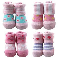 Girls Computer Socks, 4 Pairs « Clothing Impulse