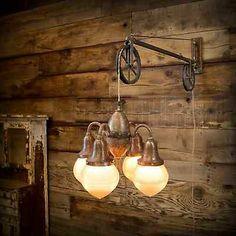 Vintage Industrial Telescoping Electro Dental Arm Lamp Pendant Chandelier Light