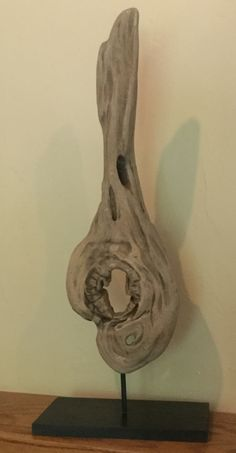 Driftwood art. Lake Michigan. Cottage decoration. Driftwood. Treble clef. Music in wood. Private collection Michigan cottage.