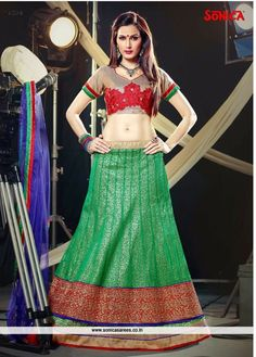 Link: http://www.sonicasarees.com/lehenga-choli?catalog=1334 Price range: Rs 3560/- Shipped worldwide within 7 days. Lowest price guaranteed.