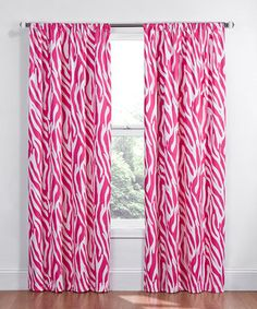 Another great find on #zulily! Pink Safari Eclipse Kids Window Panel by Ellery Homestyles #zulilyfinds
