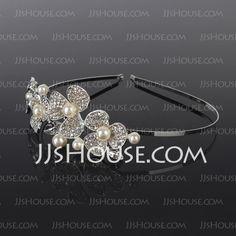 Hodepynt+-+$19.99+-+Lovely+Rhinestone+Pearl+Tiaraer+headpiece+pannebånd+(042017805)+http://jjshouse.com/no/Lovely-Rhinestone-Pearl-Tiaraer-Headpiece-Panneband-042017805-g17805