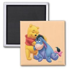 Winnie the Pooh and Eeyore Refrigerator Magnets