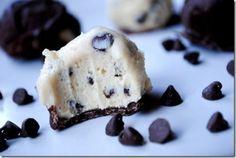 Chocolate Chip Cookie Dough Balls--a no bake dessert