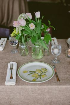 THOSE are my Gramma's Dishes!!!  Vintage DIY Style Wedding From Rusticweddingchic.com