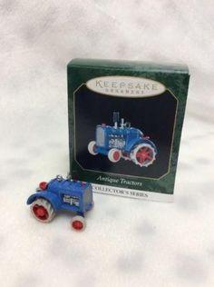 Hallmark Miniature Ornament 1999 Antique Tractors #3 QXM4567 Die Cast Metal