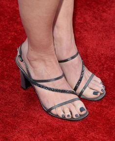 Courtney Thorne-Smith Photos - Actress Courtney Thorne-Smith, shoe detail, attends the 2015 TV Land Awards at Saban Theatre on April 11, 2015 in Beverly Hills, California. - 2015 TV Land Awards - Red Carpet