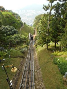 On the way to the top of Penang Hill. Penang, Malaysia
