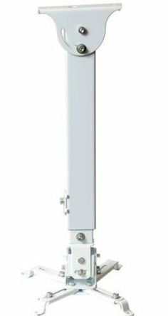 VideoSecu LCD/DLP Projector Ceiling Mount Bracket White Fits both flat or Vaulted ceiling PJ2W 1CA