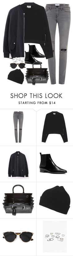 """""""Untitled#4146"""" by fashionnfacts ❤ liked on Polyvore featuring Frame Denim, Acne Studios, Michael Kors, Yves Saint Laurent, Topshop, Christian Dior, Free People, women's clothing, women and female"""