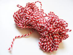 Pretty red&white Bakers Twine
