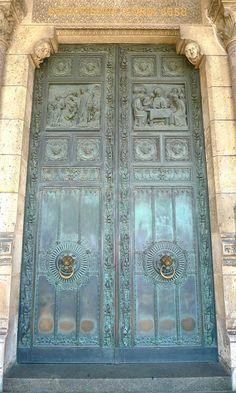 Sacre Coeur Door by meredithheard, via Flickr. Paris.