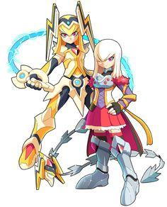 Commission for Commision: Seras Kusenagi : Megaman Model O-S Fantasy Character Design, Character Inspiration, Character Art, Armor Concept, Game Concept Art, Elsword, Mega Man, Cry Anime, Anime Art