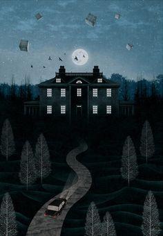 gobugipaper:  Mystery night(2012)  personal work,digital painting, photoshop  illustration bygobugi