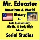 Mr Educator - A Social Studies Professional!  **Come check out the latest, including the Westward Expansion & Manifest Destiny Unit and a lesson the War of 1812**