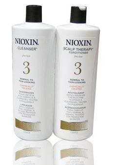 """Nioxin System 3 Cleanser & Scalp Therapy 33.8OZ """"Pack of 2"""" by Nioxin. $50.90. Nioxin System 3 Cleanser & Scalp Therapy 33.8OZ """"Pack of 2"""". NIOXIN complete System of Cleanser, Scalp Therapy :     Reduces hair loss due to breakage Delivers denser-looking hair Amplifies hair texture Strengthens hair against cuticle damage Cleanses excessive sebum from scalp"""