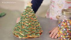 Un árbol de Navidad de galletas en 3D