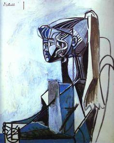 Picasso -- Ponytail Girl / model is Sylvette David #art
