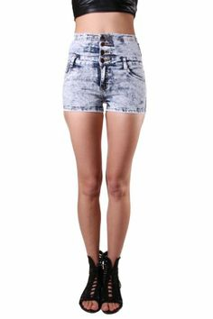 36 Point 5 Womens Highwaist Acid Wash Denim Short $32, comfortable fit and just in time for spring! buy it now :)