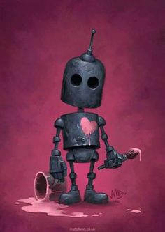 "Matt dixon's lonely robots <3 ""The artist"""