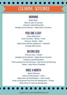 Cleaning Schedule_Printable