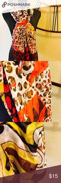 Beautiful colored scarf 100% Viscose material Nollia Accessories Scarves & Wraps