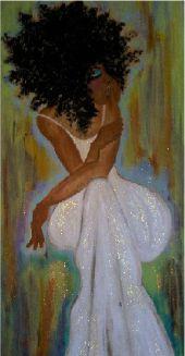 wonder what's going through her mind. (http://www.yvettecrocker.com/) #art