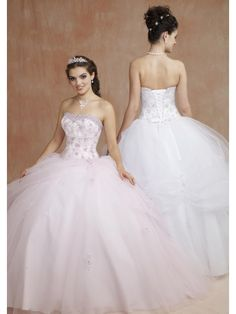 Elegant Ball Gown Strapless Sleeveless Floor Length Quinceanera Dresses QD0002