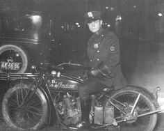 Motorcycle Cop on his 1926 Indian Motorcycle. The N.Y.P.D. Motorcycle Squad was founded on June 9th, 1911 by then Commissioner Waldo Rhinelander.