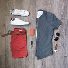 "246 Me gusta, 5 comentarios - Mitch Yasui (@mitchyasui) en Instagram: ""Light summer layers. Shirt, shorts, belt: @frankandoak Sneakers: @adidasoriginals Watch:…"""
