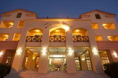 Samaina Inn in Karlovasi, Samos Samos, Great View, Seaside, Greece, Island, Mansions, House Styles, Block Island, Mansion Houses