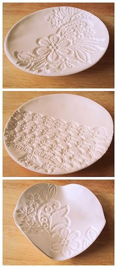 dyi lace bowls.. put initials and make ring bowl :3