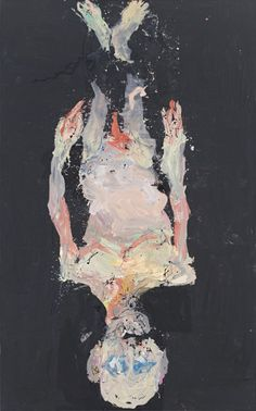 Georg Baselitz, Fällt von der Wand nicht (Not falling off the wall), from the series Avignon, 2014.