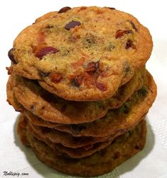 I've made these. Maple-bacon chocolate chip cookies. So good!