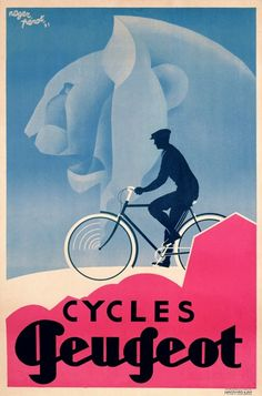 Cycles Peugeot Bicycle Poster