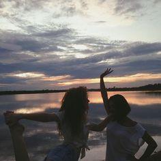 sol dando tchau e pintando o céu//Ana no Instagram