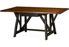 Rose Tarlow Melrose House Toledo Desk on OneKingsLane.com  Walnut desk with one drawer and black painted base.  Made of:     walnut  Dimensions:     68''L x 36''W x 3